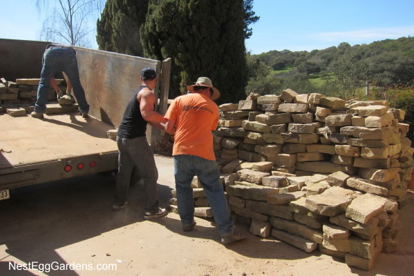 Nephew Joey and buddy Ray M. helped deliver the huge load.